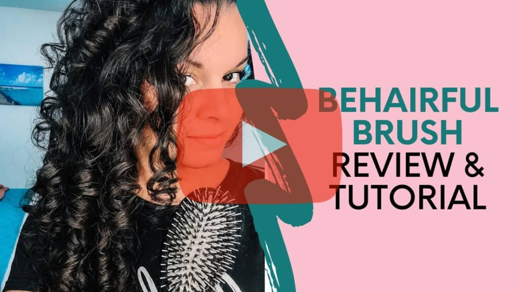 Behairful brush review and styling tutorial for fine curly hair
