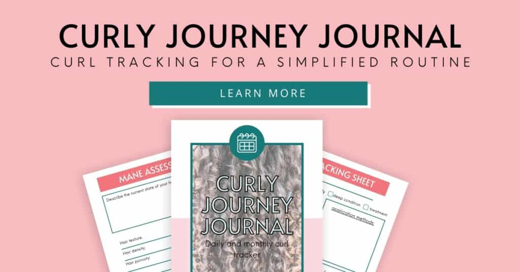 Curly Journey Journal curl tracking for a simplified routine